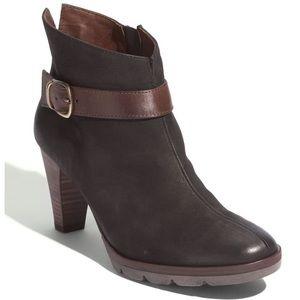 New Paul Green Karla Booties Nubuck Leather